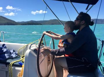 Sailing to Nara Inlet, Whitsundays